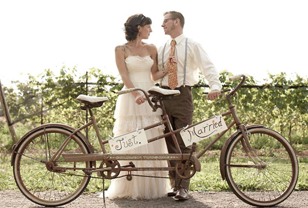 tandem-just-married